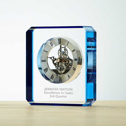 Timeless Achievement Crystal Skeleton Clock
